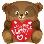 "18"" Be My Valentine Bear Shape Balloon"